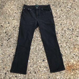 Womens Ralph Lauren Black Jeans Size 12